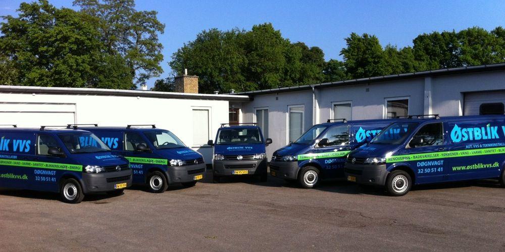 ØSTBLIK VVS Firmaprofil og servicebiler