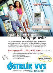 Gulvvarmestyring Kampagne Østblik VVS